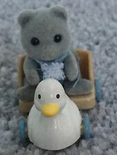 Sylvanian Families Baby Grey Bear and Duck Toy