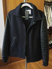 Golden Bear for Club Monaco Varsity Jacket Made in USA Wool Leather