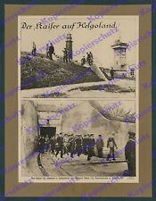 Schensky Wilhelm II. Kaiserliche Marine Admirale Festung Helgoland Bunker 1917