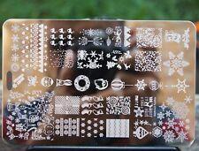 Fashion CHRISTMAS Stamping Plates Beauty Nail Art  Stamp DIY Tips Nails Template