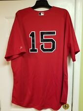Boston Red Sox DUSTIN PEDROIA #15 Majestic 2015 Authentic RED Jersey size 56 NEW