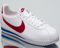 "Nike Classic Cortez Leather ""Forrest Gump"" White New Lifestyle Shoes 749571-154"