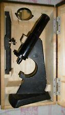 altes Mikroskop ROW Rathenow-Schulmikroskop-Holzkoffer