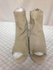 Dolce Vita HAREM Women's Beige Leather Open Toe BOOTIES Sz. 9
