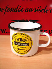 PLAQUE EMAILLEE TASSE cafe mug CACHOU LAJAUNIE REGLISSE enamel COFFEE CUP EMAIL