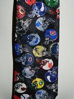 VTG Early 1990's Team NFL Football Helmet NFC AFC Teams Polyester Men's Neck Tie