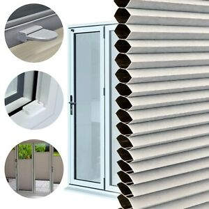 PERFECTLY FITTED BLACKOUT Frameless Bi-Fold/Patio Doors Pleated Honeycomb Blind