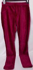 Hue Women's Corduroy Full Length Leggings Rouge Size X-Small