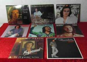 9 Langspielplatten CAMILO SESTO - Vinylsammlung -