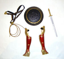 Barbie Doll Sized Costume/Accessories, Sword, Shield, Boots For Barbie Doll rf03