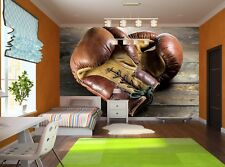 Old Boxing Gloves  Photo Wallpaper Wall Mural DECOR Paper Poster Wall art