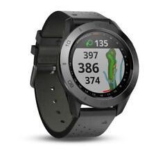 Garmin Approach S60 Premium Golf GPS Rangefinder Smart Watch Ceramic Leather
