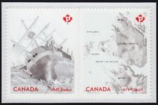 FRANKLIN EXPEDITION = EREBUS SHIP = Embossed BK Pair Canada 2015 #2854-55 MNH