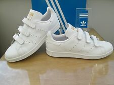 ADIDAS ORIGINALS STAN SMITH HOOK AND LOOP LEATHER TRAINER SNEAKERS SIZE 11 EU 46