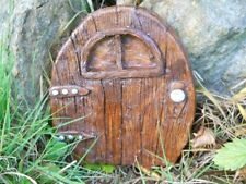 Latex mould of a fairy door with window garden ornament