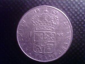 SWEDEN      1 KRONE   1969   SEP24