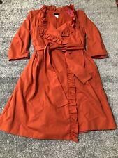 J Crew size 4 Three-Quarter Inch Sleeve Wrap Dress With Pockets