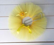 Cake Smash Outfit - First Birthday Tutu Set - Yellow - Baby Girl - Sunflower