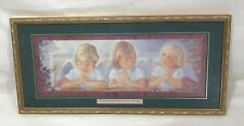 Home Interiors Homco Angels Print For Where Two Or Three Are Together Matt 18:20