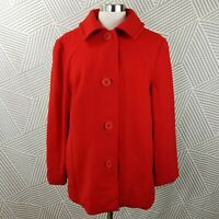 Pendleton Vintage Womens Medium Large Wool Pea Coat Blazer Made in USA winter