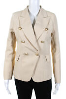 Lioness Womens Double Breasted Palermo Blazer Jacket Light Nude Size Medium