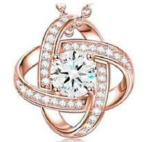 rose gold-plated 925 sterling silver cubic zirconia  Necklace  in gift box