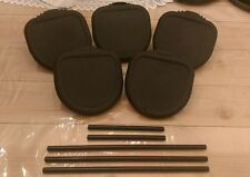 Lot of 5 Alesis Drum Trigger Pads Electronic Drum Kit and Mount Arms