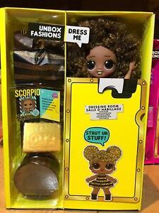 LOL Surprise OMG BAMBOLA QUEEN BEE DOLL CASA WINTER CHALET HAIR REMIX HAIRFLIP