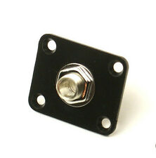 Universal Electric Guitar Output Jack Plate Socket ,Square /Plastic /Black