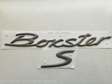 "Porsche 986 Boxster ""S"" Tapa Trasera Decal Set Titanio Metálico 986.559.243.00.9A4"