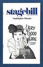 "Travis Hudson ""VERY GOOD EDDIE"" Benny Baker / Jerome Kern 1976 Chicago Playbill"