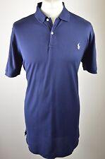 Premium Homme Ralph Lauren Polo Golf Bleu Marine Polo à manches courtes Shirt Large