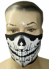 Neoprenen skull half face mask motorbike motorcycle sking