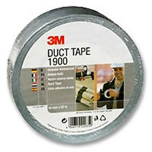 3M 1900 - Duct Tape 50mm x 50m Roll - Silver - Tracked 48 Post