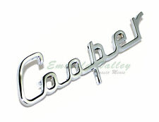 "Classic Mini New MK1 Chrome Script Letters Austin ""Cooper"" Boot Badge"