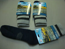 NWT Men's Cabela's Wool Blend Lifestyle Crew Socks 3 Pair Size Large Multi #626A