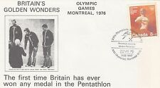 (99215) Canada Cover Olympic Games Montreal GB Winners Pentathlon 22 July 1976