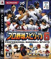 Used PS3  Pro Yakyuu Spirits 6 SONY PLAYSTATION 3 JAPAN JAPANESE IMPORT