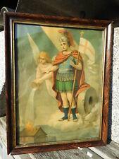 c.1900 HL. ST. FLORIAN FLORIANI Heiligenbild holy picture Schutzpatron Feuerwehr
