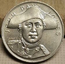 Rare 1968 John Paul Jones US Navy Shell's Famous Facts & Faces Medal Token Coin