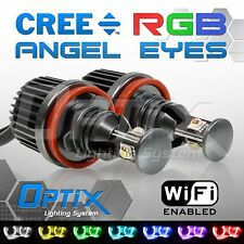 BMW 30W H8 RGB Color Change Phone WIFI Angel Eyes Halo LED Canbus E90 E92 E93 X5