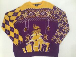 NFL Minnesota Vikings Christmas Sweater Excellent Condition size 2xl