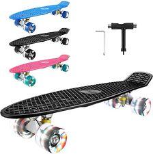 22''Skateboard Cruiser Skateboard Komplettboard LED ABEC7 Kugellager Pennyboard