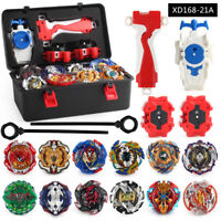 Lots of 12 Beyblade Burst Blades Set w/ LR Launcher Grip + Portable Storage Case