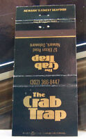Rare Vintage Matchbook Cover T2 Newark Delaware The Crab Trap Finest Seafood