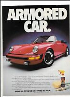 1985 Red Porsche 911 Print Ad~ Armor All ARMORED CAR.