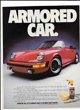 1985 Red Porsche 911 Print Ad~ Armor All ARMORED CAR.