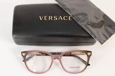 Versace 3242 pink medusa logo ombre cat eye frame optical eyeglasses NEW $385