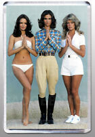 CHARLIE'S ANGELS LARGE fridge magnet A-CLASSIC 70's COOL! Kelly,Sabrina and Jill