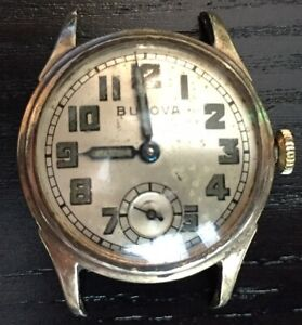 Vintage 1943  Bulova 15 Jewel 10AK Military Men's Watch.